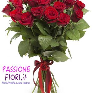 Bouquet 24 rose Rosse