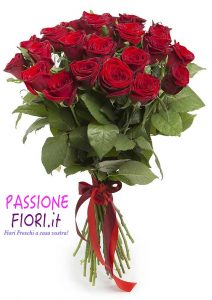 Bouquet 50 rose Rosse