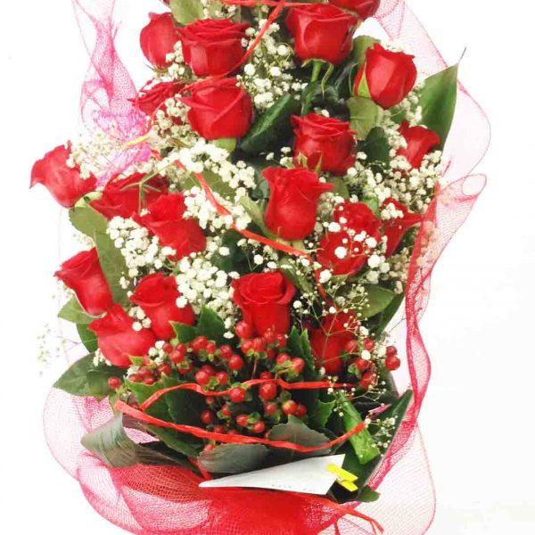 mazzo 25 rose rosse
